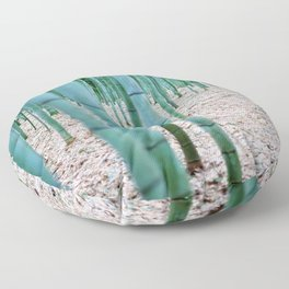 The Bamboo Grove, Arashiyama, Kyoto Floor Pillow