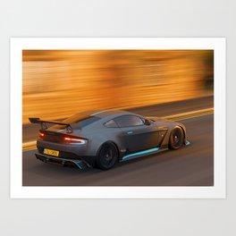 racecar aston Art Print
