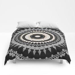 Grey Taupe Boho Mandala Design Comforters