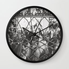 Skull Fence of New Orleans Wall Clock