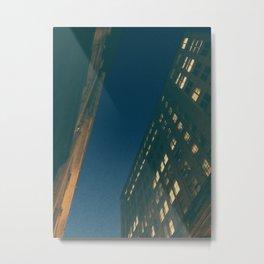 dusk on chestnut street Metal Print