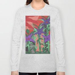 Twilight Sun Garden Floral Art Long Sleeve T-shirt
