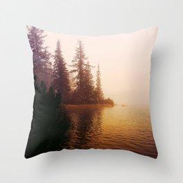 Sunset at Lake Throw Pillow