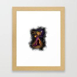 Pumpkin Bae - Halloween Girl Framed Art Print