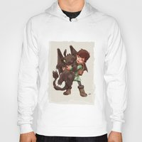 hiccup Hoodies featuring Hiccup & Toothless - Childhood  by David Tako