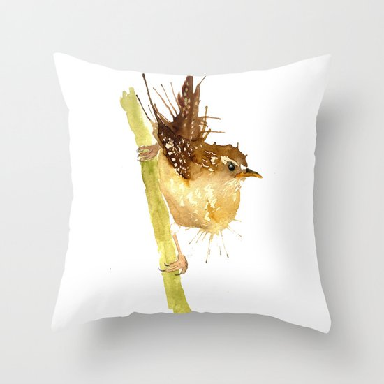 Mrs Wren Throw Pillow
