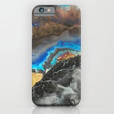 Storm Brewing - Fluid art on canvas iPhone 6s Slim Case