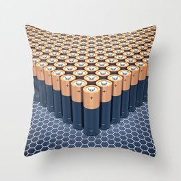Batteries Throw Pillow