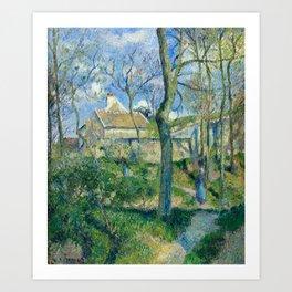 """Camille Pissarro """"The Path to Les Pouilleux, Pontoise"""" Art Print"""