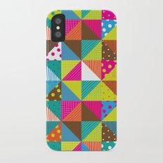 Crazy Squares iPhone X Slim Case