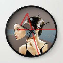 turn off the mask Wall Clock