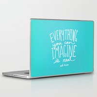 picasso Laptop & iPad Skins featuring Picasso: Imagine by Leah Flores