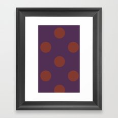 polkadots purple Framed Art Print