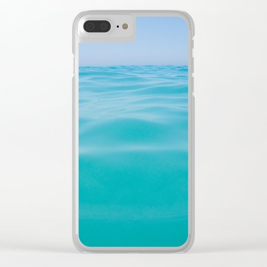NEVER ENDING OCEAN Clear iPhone Case