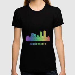 Rainbow Jacksonville skyline T-shirt