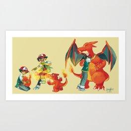 Charmander's Story Art Print