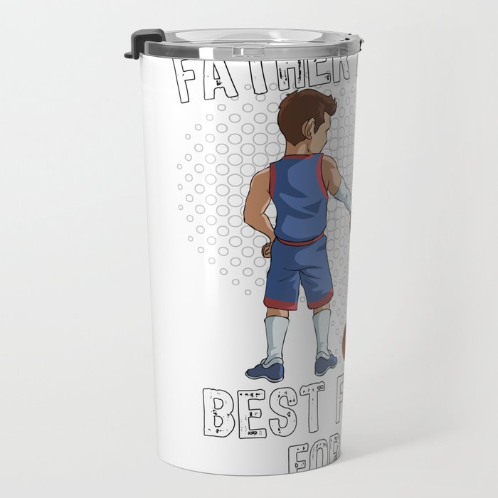 Father and Son Best Friend for Life Basketball Gift Travel Mug