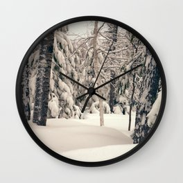 Winter Woods 2 Wall Clock