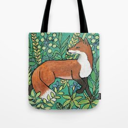 Fox in a meadow Tote Bag