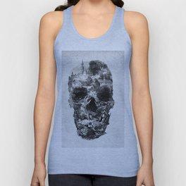 Town Skull B&W Unisex Tank Top