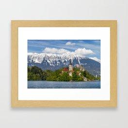 Bled Landscape Framed Art Print