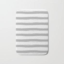 grey and white gross stripes no.3 Bath Mat