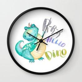Hello Dino Wall Clock