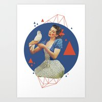 dorothy Art Prints featuring Dorothy by Cut and Paste Lady