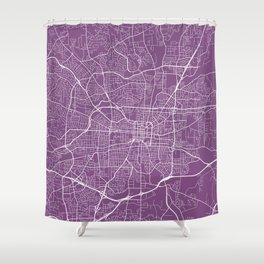 Greensboro Map, USA - Purple Shower Curtain