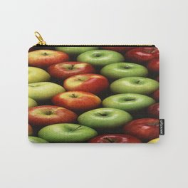 Red and Green Apples Displayed In A Pattern Carry-All Pouch