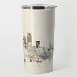 Detroit Michigan skyline Travel Mug