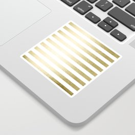 Simply Striped Gilded Palace Gold Sticker