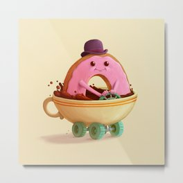 Donut Car Metal Print