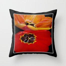 pretty tulip pair  Throw Pillow