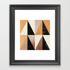 Copper Geo Framed Art Print