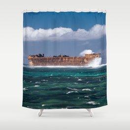 Brown rock valley Shower Curtain