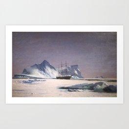 Scene in the Arctic by William Bradford - Hudson River School Vintage Painting Art Print