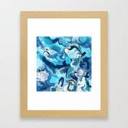 Blue marble Framed Art Print