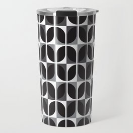 Geometric Pattern #181 (black gray) Travel Mug