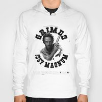 rick grimes Hoodies featuring Rick Grimes & .357 Magnum by SwanniePhotoArt