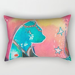 Super Cat - fantastic animal - by LiliFlore Rectangular Pillow