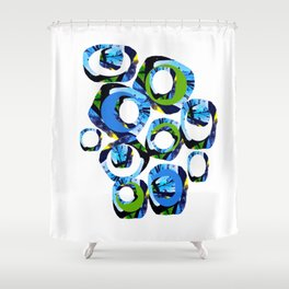 Movement of joy and peace Shower Curtain