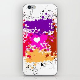Red & Ready .. My love is steady :) iPhone Skin