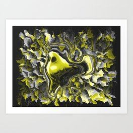 The Gold Gown Art Print