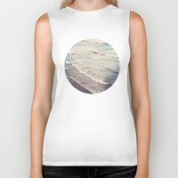 waves Biker Tanks featuring Ocean Waves Retro by Kurt Rahn
