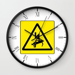Danger Electricity Wall Clock