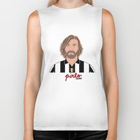 pirlo Biker Tanks featuring ANDREA PIRLO - JUVENTUS by THE CHAMPION'S LEAGUE'S CHAMPIONS