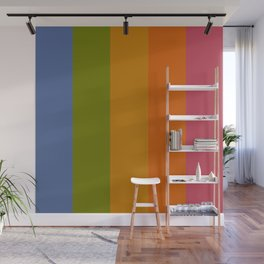 Rainbow Stripes /// pencilmeinstationery.com Wall Mural