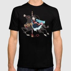 Carousel: The Dark Side of the Moon Mens Fitted Tee Black MEDIUM