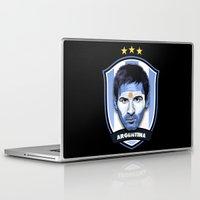 messi Laptop & iPad Skins featuring Messi by Rudi Gundersen